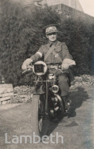 MOTORCYCLE RIDER:WORLD WAR II
