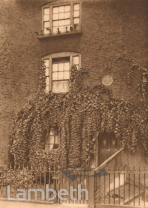 WILLIAM BLAKE'S HOUSE, 13 HERCULES ROAD, LAMBETH