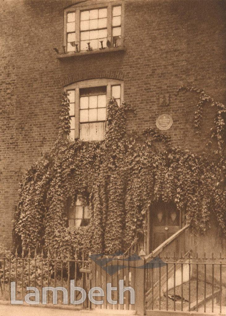 WILLIAM BLAKE'S HOUSE, 13 HERCULES ROAD, LAMBETH