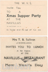 WVS NAVILLUS RESTAURANT, WEST NORWOOD: WORLD WAR II