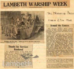 LAMBETH WARSHIP WEEK: WORLD WAR II