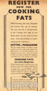 RATIONING OF FATS: WORLD WAR II