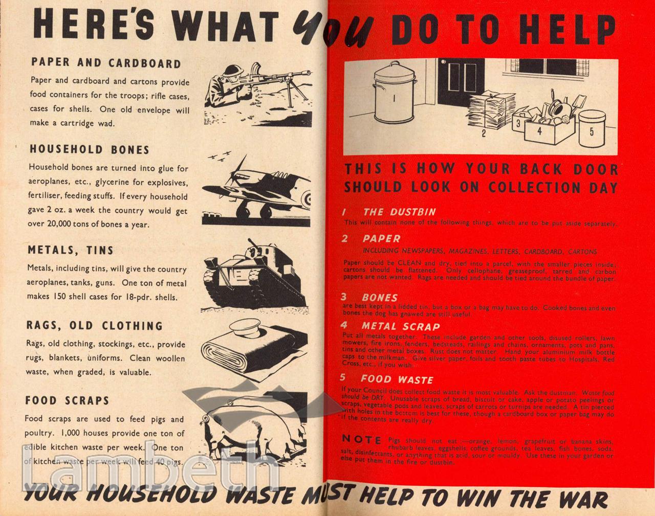 HOUSEHOLD RECYCLING: WORLD WAR II