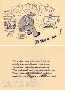 RESERVE POLICE CHRISTMAS CARD: WORLD WAR II