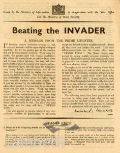 INVASION ADVICE LEAFLET: WORLD WAR II