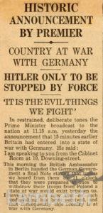 DECLARATION OF WAR: WORLD WAR II