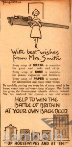 RECYCLING ADVERTISEMENT: WORLD WAR II