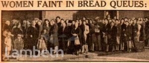 BREAD QUEUES: WORLD WAR II