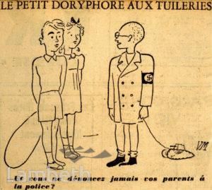 FRENCH OCCUPATION CARTOON: WORLD WAR II