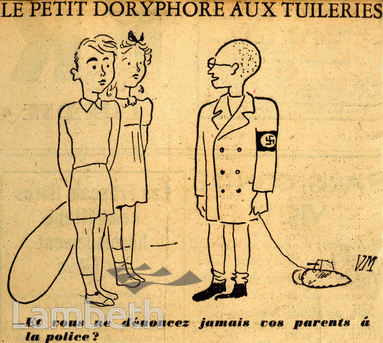 French Occupation Cartoon World War Ii Landmarklandmark