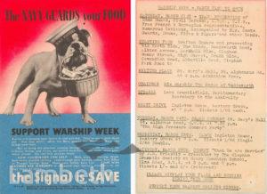 WARSHIP WEEK FLYER: WORLD WAR II