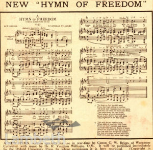 NEW 'HYMN OF FREEDOM': WORLD WAR II