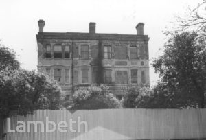 DERELICT HOUSE, PALACE ROAD, STREATHAM