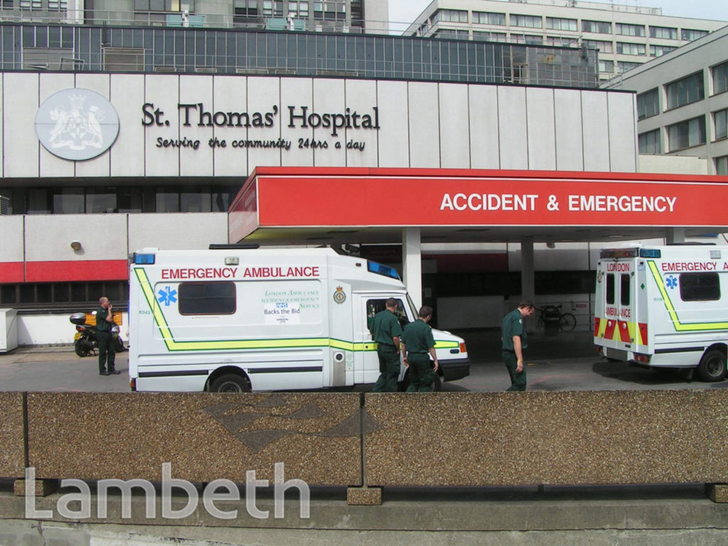ST THOMAS' ACCIDENT AND EMERGENCY, LAMBETH PALACE ROAD