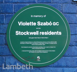 WAR MEMORIAL PLAQUE, SOUTH LAMBETH ROAD, STOCKWELL