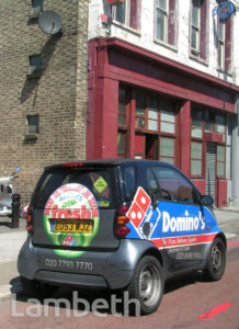PIZZA DELIVERY CAR, KENNINGTON