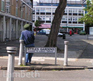 STYLES GARDENS, LOUGHBOROUGH JUNCTION