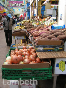 FRUIT AND VEGETABLE STALL, BRIXTON VILLAGE, BRIXTON