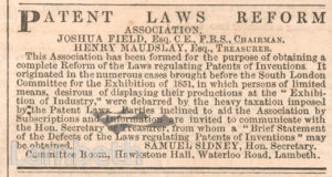 MAUDSLAY & FIELD NOTICE, WATERLOO ROAD