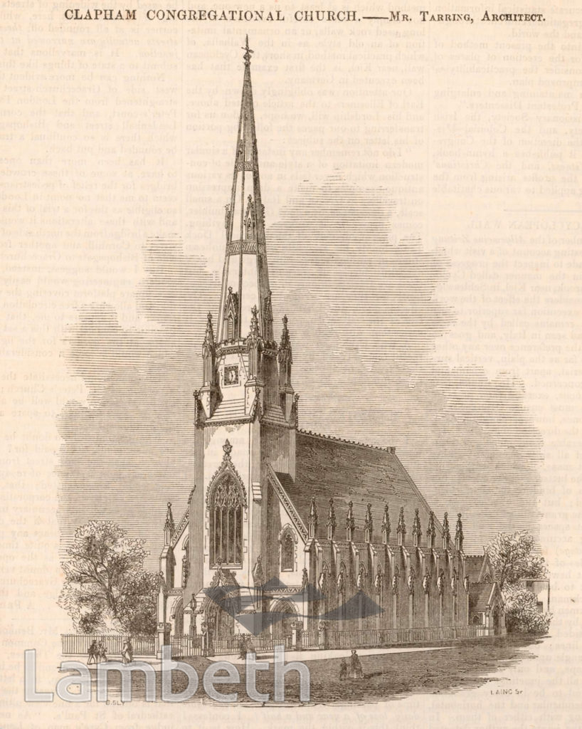 CONGREGATIONAL CHURCH, CLAPHAM