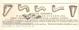 WILLIAM NORTHEN'S UNION POTTERY ADVERT, VAUXHALL WALK