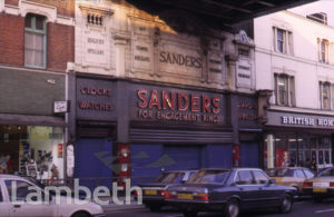 SANDERS & CO LTD, JEWELLERS, BRIXTON ROAD