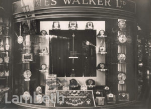 JAMES WALKER LTD, JEWELLERS, BRIXTON ROAD