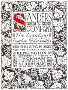 SANDERS & CO ADVERTISEMENT, BRIXTON ROAD