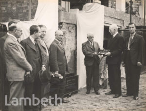 FOUNDATION CEREMONY, JAMES WALKER LTD, STREATHAM HIGH ROAD