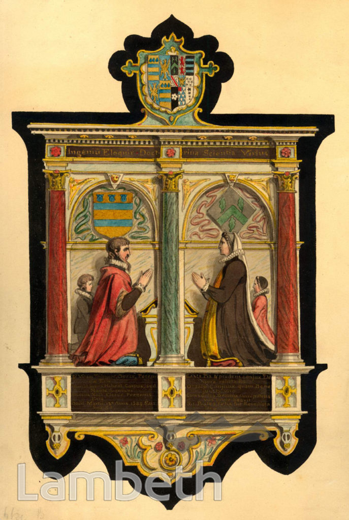 CLERKE MONUMENT, OLD PARISH CHURCH, CLAPHAM
