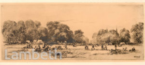CRICKET MATCH, CLAPHAM COMMON
