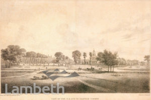 VIEW TO HOLY TRINITY CHURCH, CLAPHAM COMMON