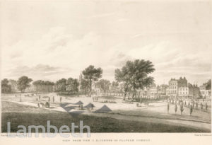 VIEW TO HOLY TRINITY, CLAPHAM COMMON