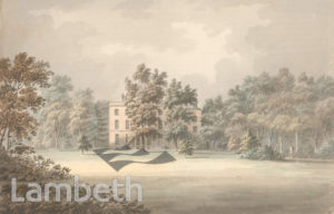 LORD TEIGNMOUTH'S HOUSE, CLAPHAM COMMON SOUTH SIDE