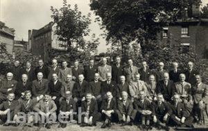STAFF AT JOHN OAKEY AND SONS LTD, LAMBETH
