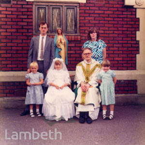 FAMILY AT FIRST COMMUNION, BRIXTON ROAD