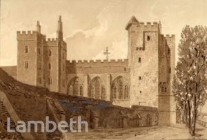 LAMBETH PALACE, BISHOP'S WALK, LAMBETH
