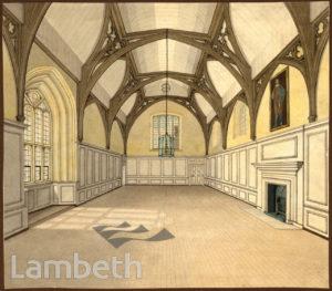 LAMBETH PALACE GUARD ROOM, LAMBETH