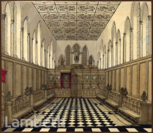 LAMBETH PALACE CHAPEL, LAMBETH