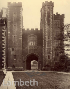 LAMBETH PALACE GATEHOUSE, LAMBETH