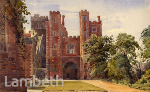 LAMBETH PALACE OUTER COURTYARD, LAMBETH