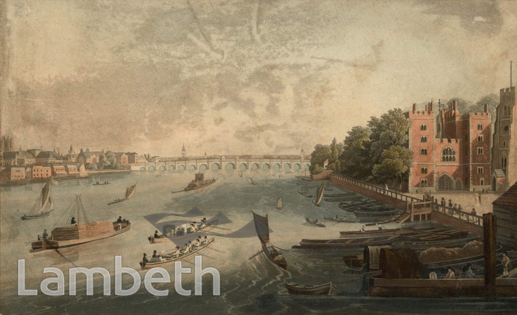 LAMBETH PALACE AND RIVER THAMES, LAMBETH