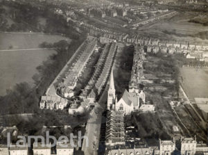 AERIAL VIEW OF TRINITY RISE, TULSE HILL