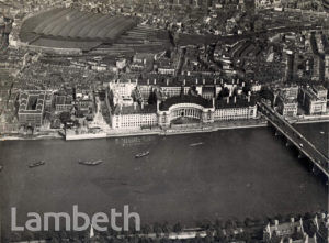 AERIAL VIEW OF COUNTY HALL AND WATERLOO