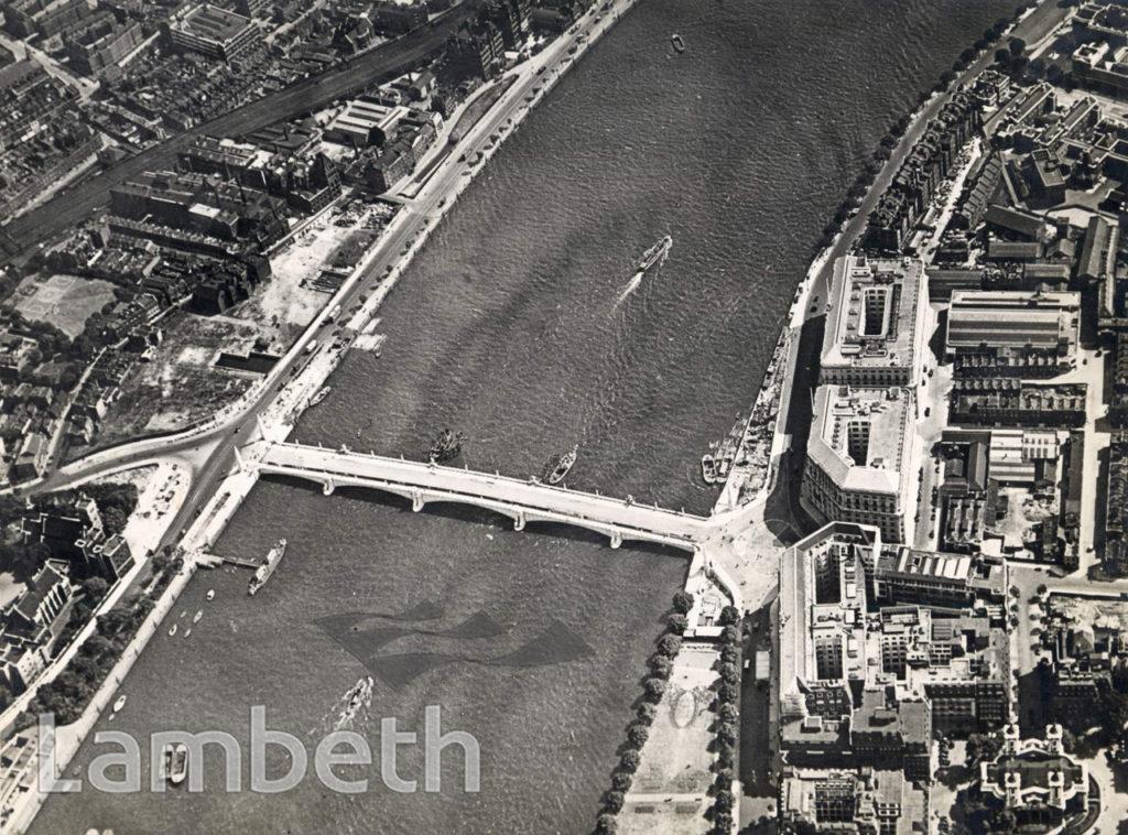 AERIAL VIEW OF NEW LAMBETH BRIDGE