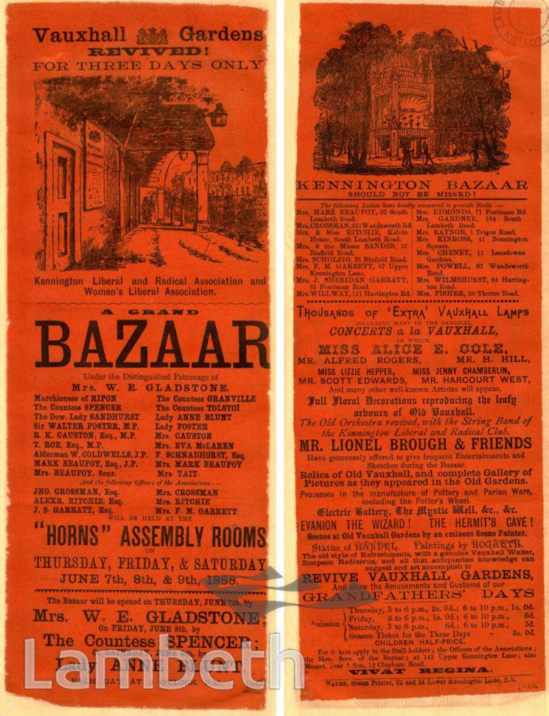 HORNS ASSEMBLY ROOMS BAZAAR, KENNINGTON