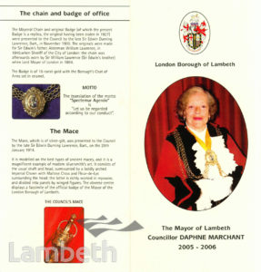 COUNCILLOR DAPHNE MARCHANT, MAYOR OF LAMBETH