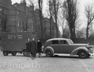 MOBILE CANTEEN, WORLD WAR II, LAMBETH