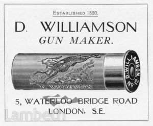 GUN MAKER, WATERLOO BRIDGE ROAD
