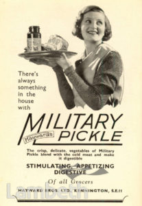 HAYWARD'S PICKLE ADVERT